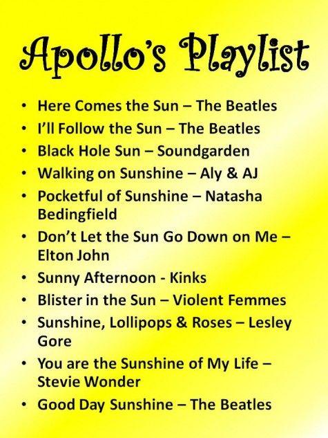 Sunny playlist
