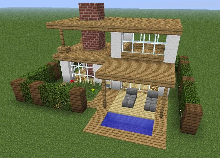 super simple minecraft starter home casas