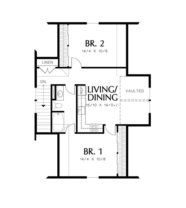 The House Designers House Plan Bhg 2292 Guest Suite