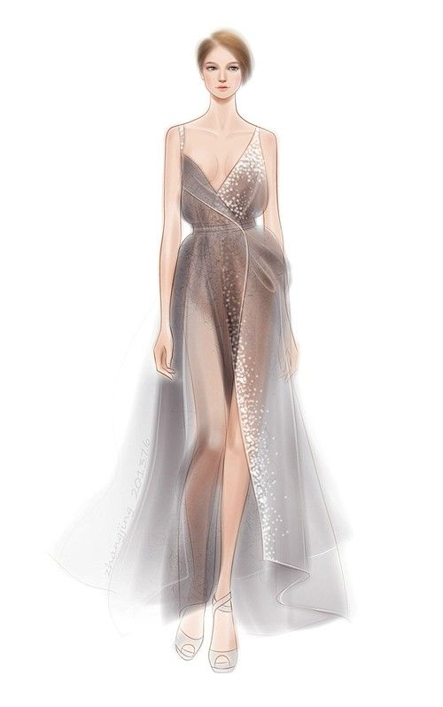 57 Fashion Illustration by adobe illustrator——Donna Karan