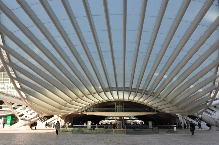 Lisbon Train/Bus Station - canopy  photo by Jeff DuBro