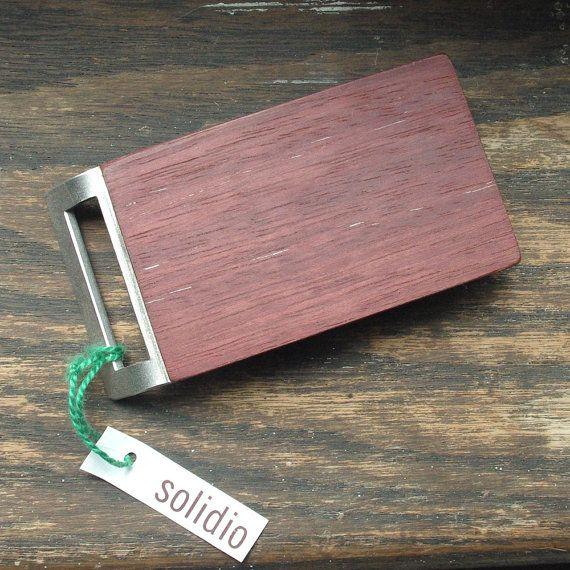 Purpleheart & Stainless Steel Belt Buckle w/ handmade от solidio