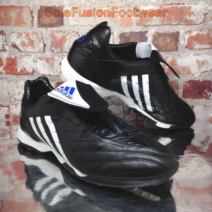 2fc26292ed adidas Predator Mens Football Trainers Black Blue sz 11 TRX Pulsado Shoes  EU 46