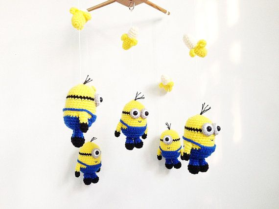 Baby mobile Amigurumi Happy Minions Minions by IvoryTreeHouse