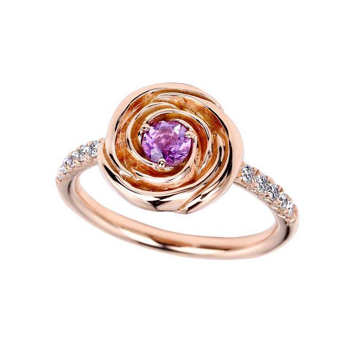Jane Taylor Rosebud - Lavendar Amethyst Ring |
