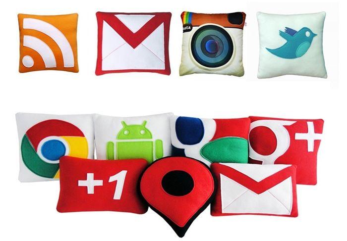 redes sociais almofadas