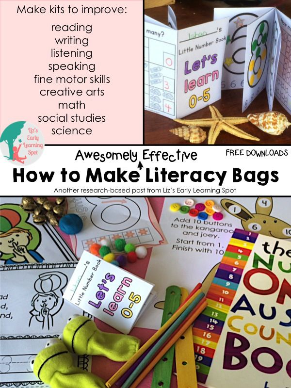 How to Make Awesomely Effective Literacy Bags - Liz's Early Learning Spot
