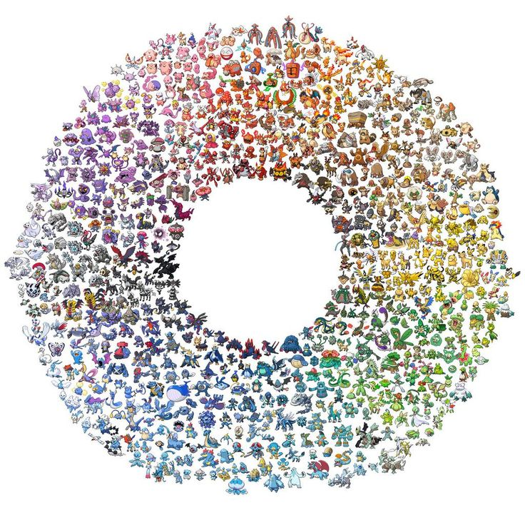 Colour Wheel with Pokemon