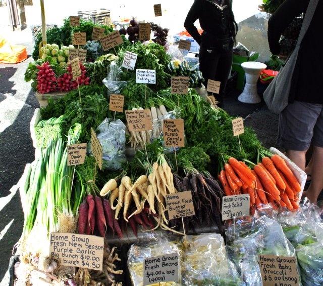 Summer's Bounty At A Farmer's Market In Tasmania