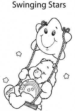 Care Bear Swinging Star Coloring Pages
