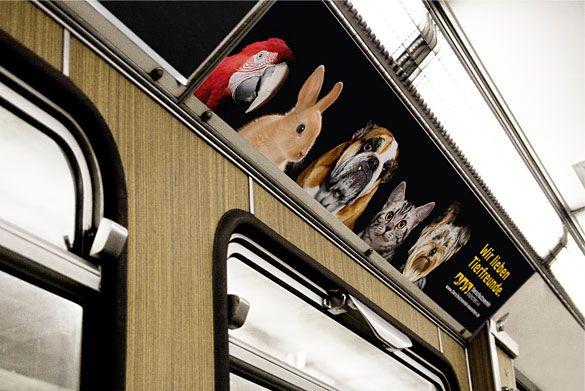 Keyvisuals für Bannerwerbung in U-Bahnen