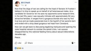 Ohio Gov candidate apologizes for bragging about sexual history