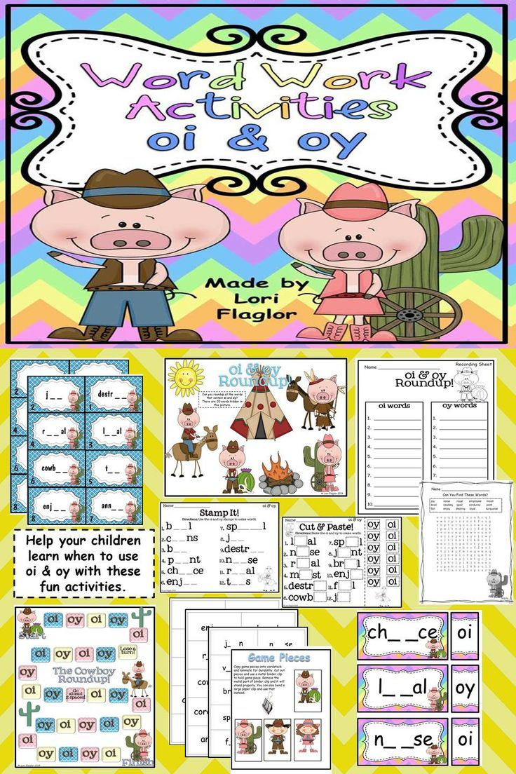 Worksheet Oi Words For Kids oi oy word work activites activities children and the ojays your will love completing these learning about sounds of oy
