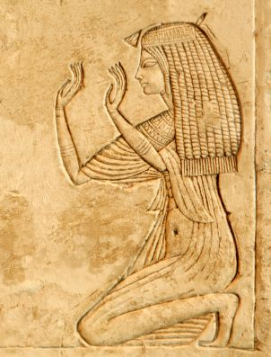 An Egyptian Royal Woman 18th Dynasty, possibly Nefertiti. http://www.ancient.eu.com/uploads/images/586.jpg