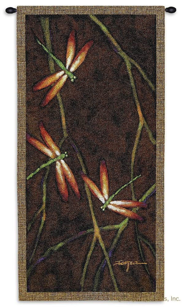 Dragonfly October Song I Wall Tapestry