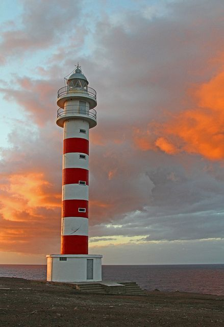 Sardina, Canary Islands, ES - Lighthouse sardina at sunset by Patrick Berden, via Flickr.