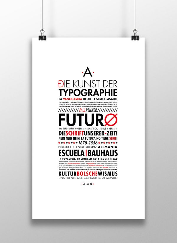 Especimen tipografico on Behance