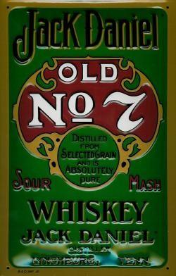 Jack Daniels Green Label Home Bar Vintage Metal Pub Sign
