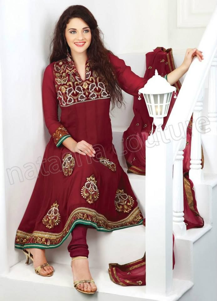 Latest Natasha Couture Designer Beautiful Anarkalis Suits For Girls (10)