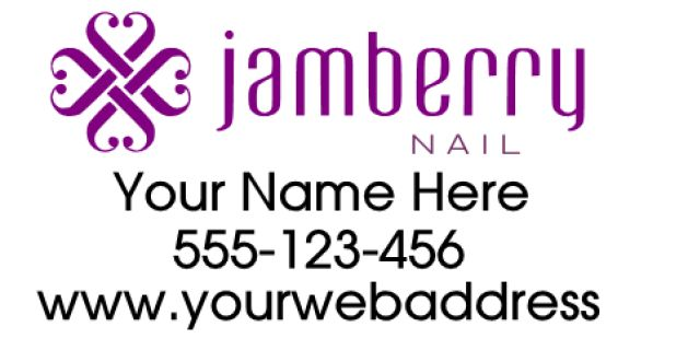 """Jamberry  Decal 12x24""""  Black is cut in white.  For custom orders email us at melissa@imagineitvinyl.ca"""