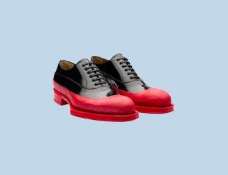 Prada Men's Lace-Up Shoes Fall/Winter 2012 – Rubber & Flowers.: Flower