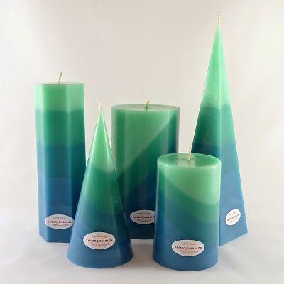 Türkis - Kühl und erfrischend. Kerzen aus der Kerzengiesser Manufaktur