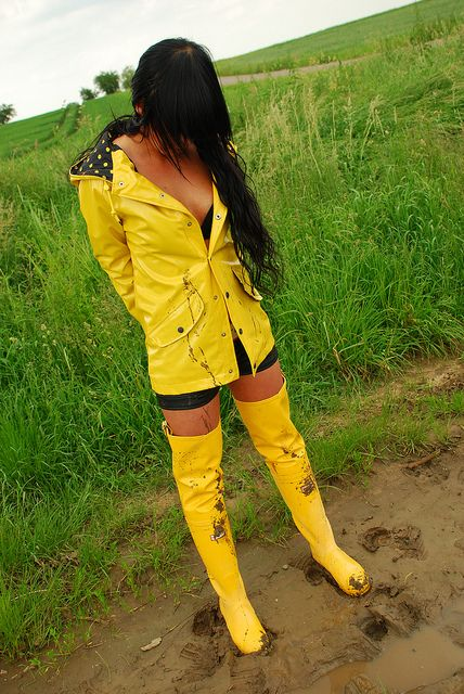 Yellow Rubber Waders