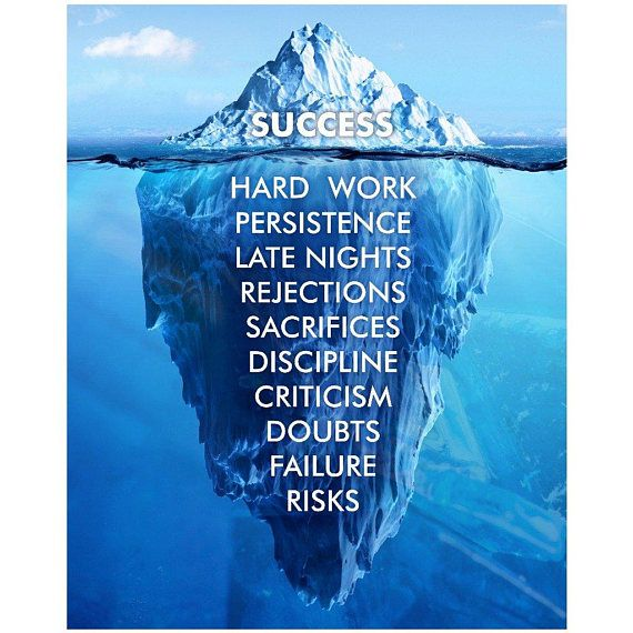 Success Hard Work Persistence Quote Success Is An Iceberg | Quotes | Success | Inspiration #ad #quotes #inspiration #success