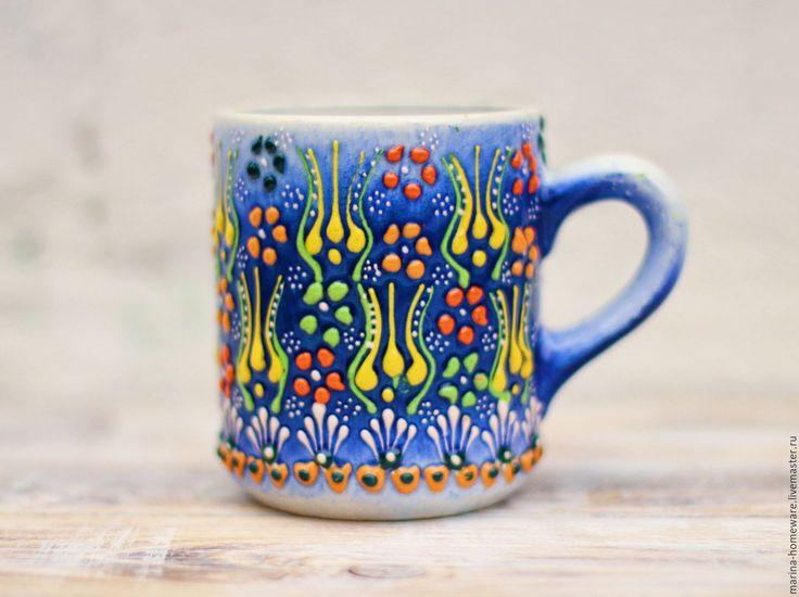 Ceramic cup | Купить Керамическая кружка (голубая чашка) - чашка чая, чашка, чашка для чая, чашка для кофе