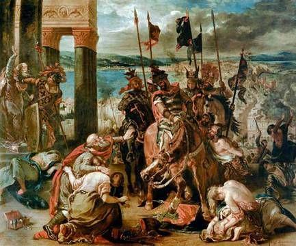Delacroix, Prise de Constantinople par les Croisess