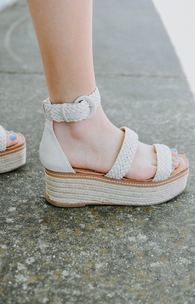 Chinese Laundry Zella Wedge Sandal White Wedge Sandals