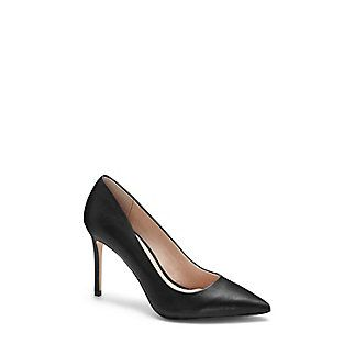 """LOUISE ET CIE SEVILLE- POINT TOE PUMP-A timeless point-toe pump dominates with jeans, skirts and dresses. The adored womanly shape is a shopper's dream in any of the diverse options, from smooth wine-tone leather to a floral fabric.The fresh update shakes off any fears of the lovely Seville looking too basic. Try it with an LBD for a chic look that will leave those around you speechless. <li> 3.75"""" heel <li> Leather/fabric upper, leather lining, man-made sole <li> Made in China"""