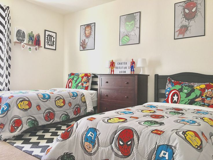 20 teen boy bedding sets with superheroes marvel themed