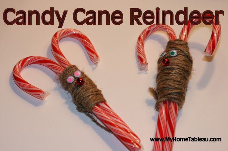 Candy cane reindeer easy craft for kids christmas for Easy candy cane crafts