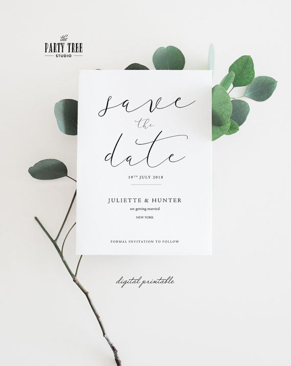 Script Save the Date Invitation. Order your personalized invite at Boardman Printing. Visit https://www.facebook.com/pg/BoardmanPrinting/services/