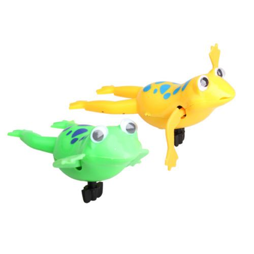 Color at  Random Cute Wind-Up Swimming Frog Pool Bath Luau Party Favors Play Toy for Kids Child