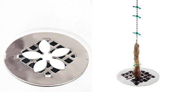 40. И, наконец, от засора труб в ванной спасет специальная ловушка для волос быт, квартира, совет, уборка, хитрости, чистота