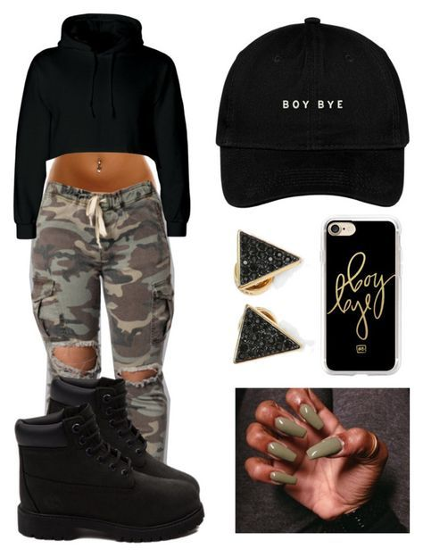 """""""""""Boy Bye"""" ✖️"""" by jayleewarren ❤ liked on Polyvore featuring Timberland, Michael Kors and Casetify"""