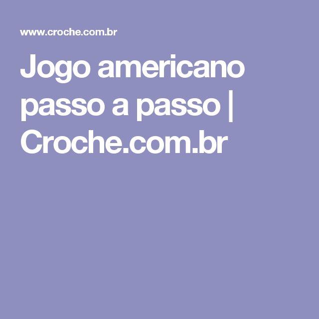 Jogo americano passo a passo | Croche.com.br