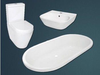 White mondo bathroom set toekomstige huisie pinterest for Bathroom accessories ctm