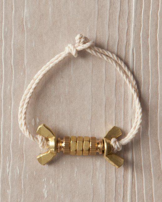 Brass-Nut Bracelet -  How To #DIY #Crafts