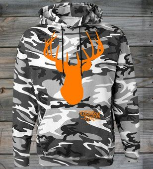 Deer Head Country Girl ® Camo Hoodie
