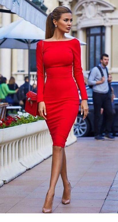 Rote kurze Kleider, die ich liebe Inspirierende Damen