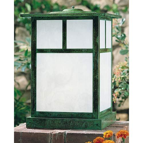 Mission Large White Opalescent T Bar Outdoor Post Mount Arroyo Craftsman Post Mounted Outd