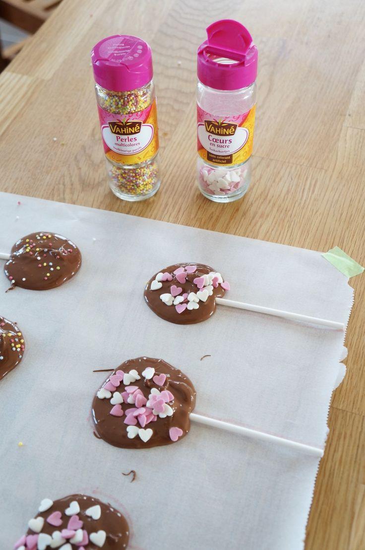 DIY sucettes en chocolat