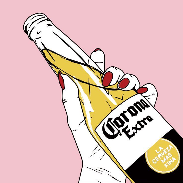 Imagen de beer, pink, and corona