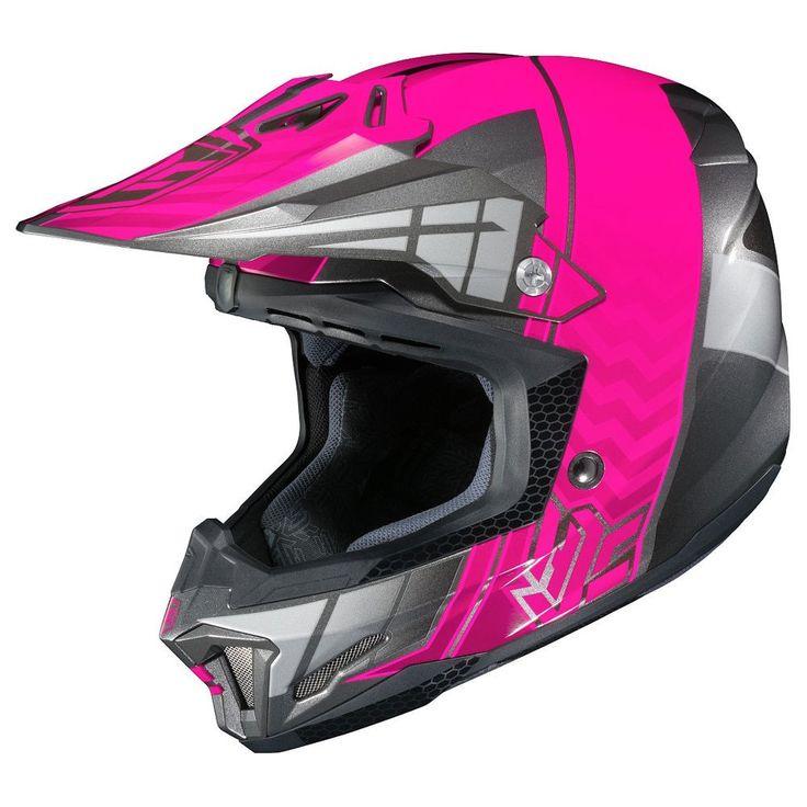 HJC CL-XY II Cross Up Youth Girls Dirt Bike Off Road Racing Motocross Helmets