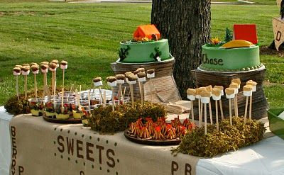Camping party: Theme Birthday Parties, Sweet Tables, Theme Parties, Camps Birthday, Kids Birthday Parties, Camping Parties, Parties Ideas, Camps Parties, Camps Theme