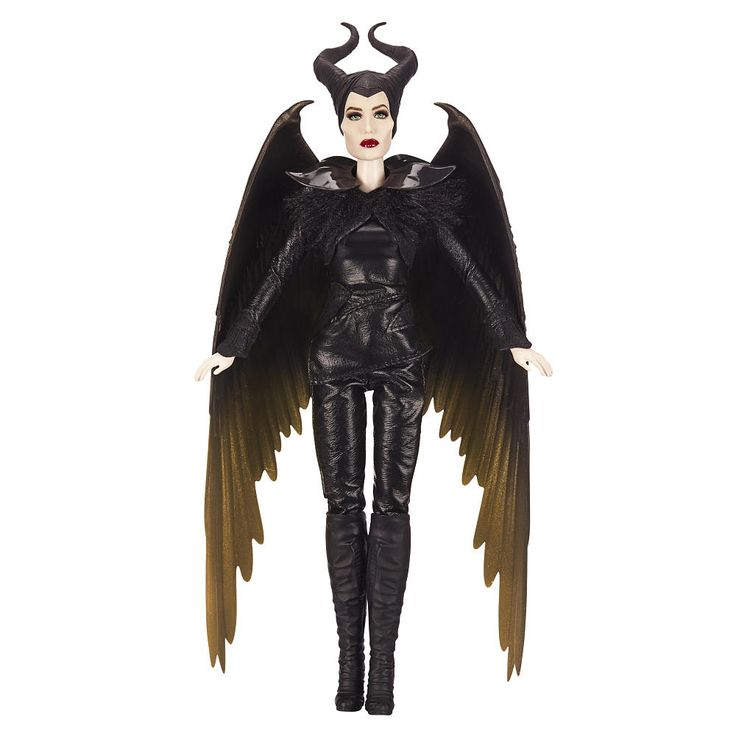 Elle Fanning Aurora Costume Maleficent Doll in bat...