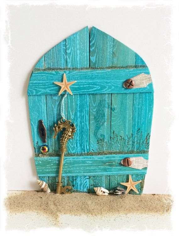 NEW Handcrafted Water Fairy Door / Mermaid by TraceyGrundyDesigns